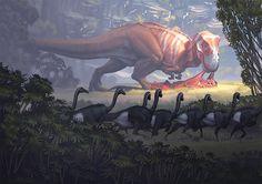 Tyrannosaurus rex comiendo