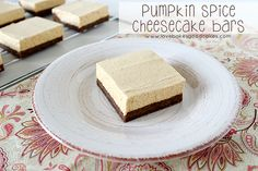 Pumpkin Spice Cheesecake Bars by lovebakesgoodcakes