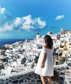The view from Oia, Santorini #travel #greece #santorini