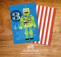 Robot Party Invitations (DIY Printables).