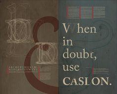 Font Study: Caslon by Jonathan Heter, via Behance