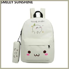 81b68eddd194e SMILEY SUNSHINE emoji bag school backpack youth kawaii kids backpack  schoolbag cute printing backpack for girl