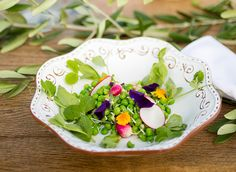 Spring Pea Salad: The perfect spring salad with peas, radish and champagne vinaigrette.