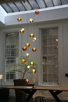 The stunning blown glass Bocci 28 series pendants from Holloways of Ludlow.