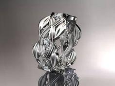 Platinum diamond floral wedding ring,engagement ring ADLR259