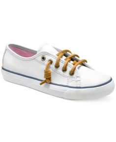 Sperry Girls' or Little Girls' Seacoast Sneakers - White 12.5