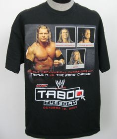 WWE Edge Michaels Benoit Triple H Shirt Sz XXL 2004 Taboo Tuesday Milwaukee Wi