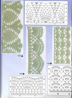 ONLY points: Edgings, crochet lace Crochet Blanket Border, Crochet Edging Patterns, Crochet Lace Edging, Crochet Borders, Crochet Diagram, Crochet Chart, Lace Patterns, Crochet Squares, Crochet Designs