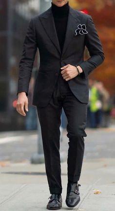 mens suits big and tall 54 long Mens Casual Suits, Mens Fashion Suits, Mens Suits, Best Suits For Men, Cool Suits, Estilo Dark, Black Suit Men, Men In Black, Men With Street Style