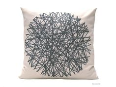 Modern decor. Gray cushion by BeccaTextile.