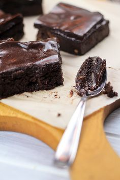 Healthy Sweet Potato Brownies by thehealthyfoodie: Very intense, smooth and chocolaty, and high in protein! For my chocolate crave!