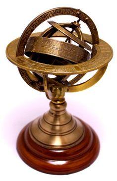 "6"" Brass Antique Finish Armillary Celestial Globe with Zodiac Engravings Krishna Mart India,http://www.amazon.com/dp/B00GNWFTFK/ref=cm_sw_r_pi_dp_HaSctb0ZKV082NZ5"