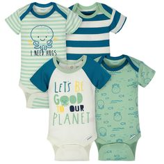 4c90a62e4 4-Pack Boys Squid Short Sleeve Onesies® Bodysuits. Cute Baby Boy Outfits ...