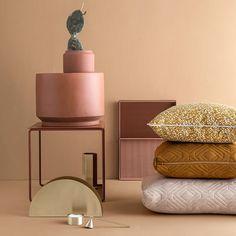 Dottery Curry Cushion | Ferm Living | DomésticoShop