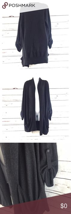 TopShop Cardigan Gray Size 2 US TopShop Cardigan Gray Size 2  Good Condition  Please check measurement Topshop Jackets & Coats