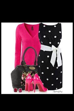 Hot pink! Black n white spots!
