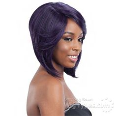Model Model Synthetic Hair Lace Deep Invisible L Part Lace Front Wig - DENVER [10648]
