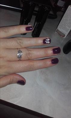 Christmas nails with white ribbon   #christmas #ribbon #gellac