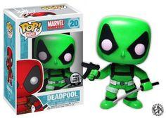 Funko Pop Marvel Glow in The Dark Deadpool Pop Vinyl Custom Exclusive | eBay