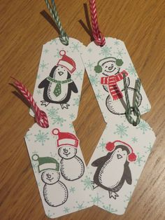 Stampin up tags with Snow place stamps - Google Search