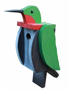Hummingbird LookAlike Birdhouse Amish Made in USA * View the item in details by clicking the image