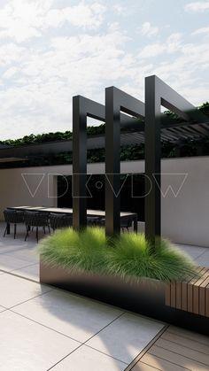Backyard Pool Designs, Modern Backyard, Pergola Designs, Patio Design, Exterior Design, Backyard Pavilion, Pergola Patio, Backyard Patio, Backyard Landscaping