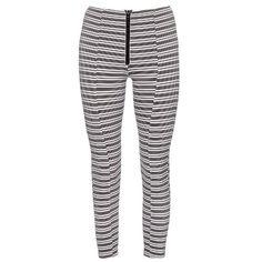 Lisa Marie Fernandez Hannah striped performance leggings ($156) ❤ liked on Polyvore featuring pants, leggings, black and white striped pants, stripe leggings, high-waisted leggings, black and white leggings and white and black striped leggings