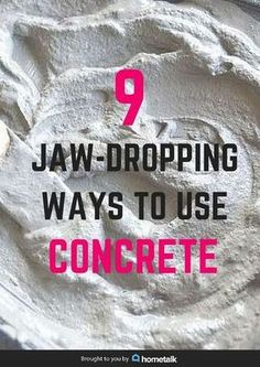 9 ways to decorate with concrete, concrete masonry, home decor, Pin this to share with friends