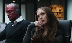 Vision (Paul Bettany) and Wanda Maximoff/Scarlet Witch (Elizabeth Olsen)