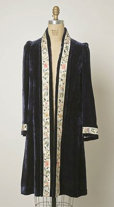 Continue the use of an embrodered trim in a wedding coat to bring the two together..  1930–49 cheongsam set with jacket