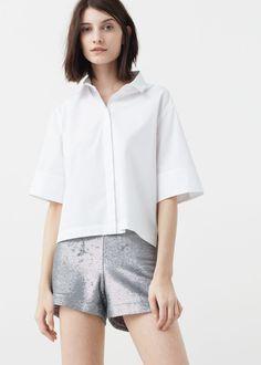 Sequin shorts | MANGO