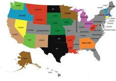 Most popular word used in online dating profiles by US state. More word maps »