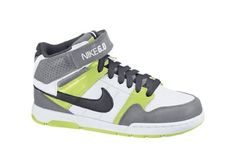 Nike Mogan Mid 2 Jr Skate Shoe - Boys  White Volt Anthracite 29fc5dbd98ae5
