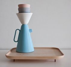 Luca Nichetto and Mjölk collaborate to make coffee set. Hand-engraved ceramic.