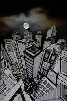 Late in the night by Lele Gastini, via Behance