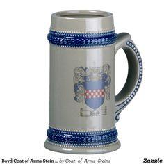Boyd Coat of Arms Stein / Boyd Family Crest Stein Coffee Mugs