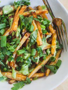 Food Truck Festival + Street Fries w/ Avocado Crema | Well and Full | #vegan #recipe