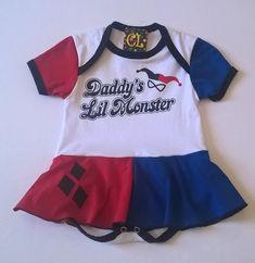 Body Personagem Arlequina Para Bebês