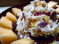 Pubix honey fruit and nut chicken salad - so good.  The recipes calls for lemon pepper chicken but I am pretty sure Publix uses the regular chicken for this recipe. Add chopped pecans, they add a really nice crunch.