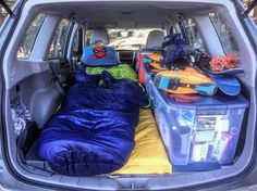 The disturbing fad of luxury camping needs to be destroyed. Dirtbags unite and take back the smelly ruggedness of over packed, car-born adventure. Used Camping Gear, Truck Bed Camping, Solo Camping, Camping Needs, Camping Guide, Van Camping, Camping Cabins, Camping Style, Suv Camper