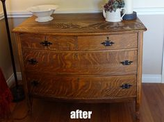 after @ http://www.apartmenttherapy.com/before-after-rescuing-a-vintage-dresser-home-sweet-nest-164679    Absolutely beautiful.