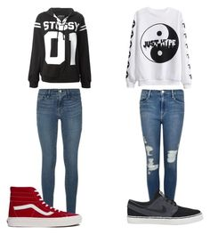 """Which??"" by carlasaenz ❤ liked on Polyvore featuring Frame Denim, Stussy, Vans and NIKE"