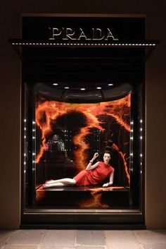 """""""Earth, Water, Fire Prada masters 3 of the 4 elements Furthering its self in becoming the next Avatar """" Window Display Retail, Window Display Design, Retail Windows, Store Windows, Fashion Installation, Museum Displays, Visual Display, Merchandising Displays, Life Design"""