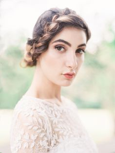 romantic braided updo #hairstyle