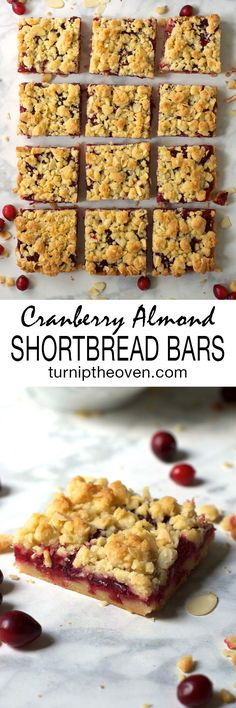 Cranberry Almond Shortbread Bars -- these simple, buttery, sweet-tart ...