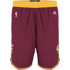 Cavs adidas Cavaliers Swingman Short in wine at the Cleveland Cavaliers Team…