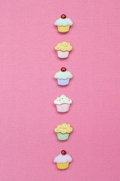 Mini Cupcakes magnetic wine glass charms