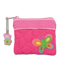 Look what I found on #zulily! Pink Butterfly Quilted Coin Purse #zulilyfinds