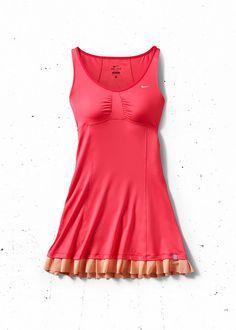 Beautiful NIKE dress worn by Victoria Azarenka 2012 at the French Open. #nike #azarenka #tennis