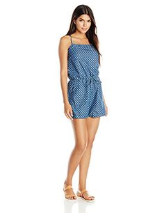 b291f172b23e Levis Womens Spaghetti Strap Chambray Romper Star Large   Check out this  great product.(
